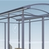 City 90 Smoking shelter, 3x2-sections