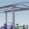 City 90 Plaza I Single with bicycle stand Arc, 1-section