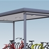 Favorit Plaza with bicycle stand Arc, 5-meters roof