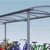 Light Plaza with bicycle stand Arc, 7-meters roof
