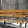 Bench Ivar with three armrests, Knivsta