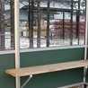Standardbench on brackets in weather shelter